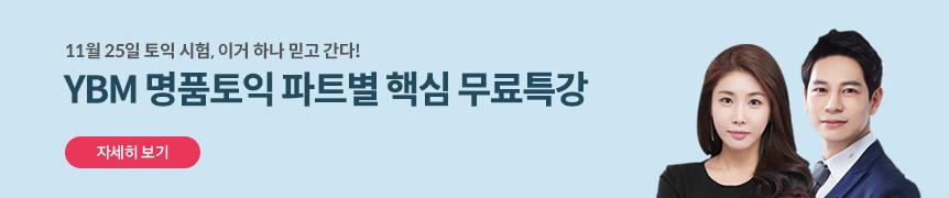 11월 25일 대비특강_명품토익